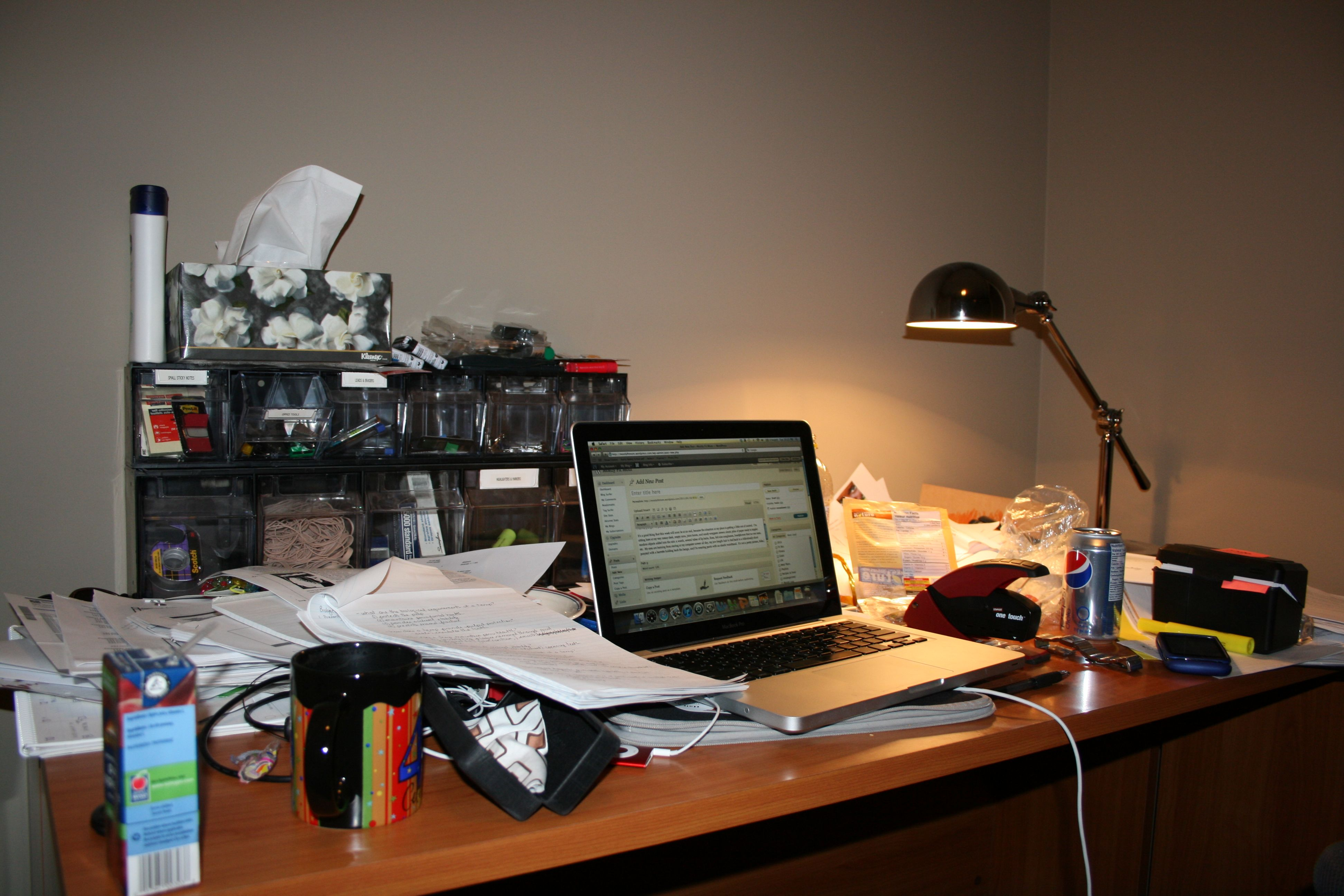Visual Confession: My Messy Desk – mostly fit mom