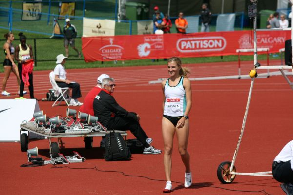 Brianne Theisin at the Canadian Olympic Trials 2012