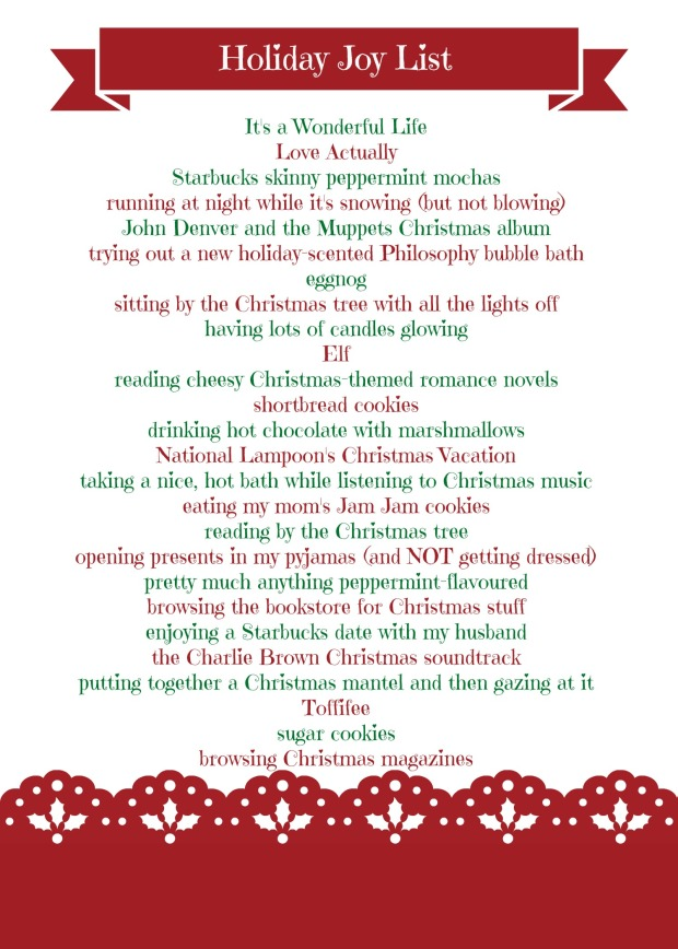 Holiday Joy List 2013