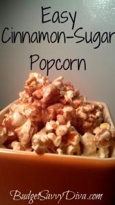 Easy Cinnamon Sugar Popcorn