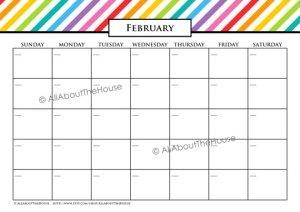 Editable Rainbow Calendar