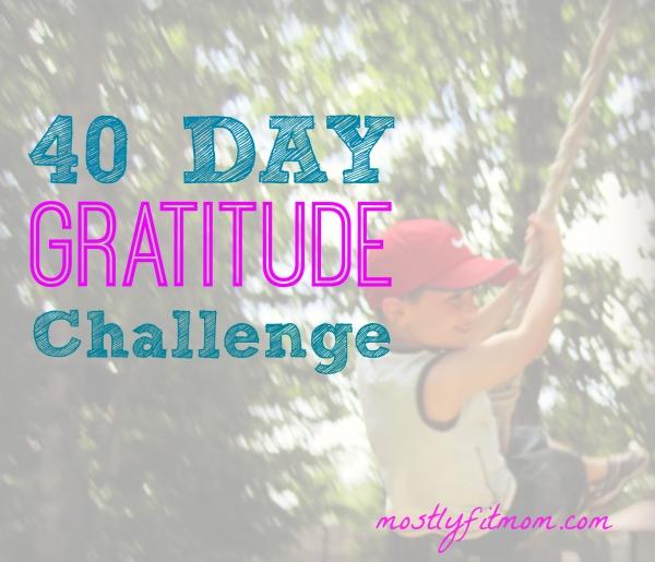 Forty Day Gratitude Challenge - mostlyfitmom.com