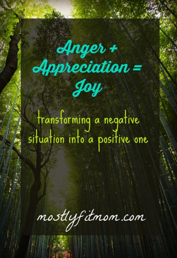 Anger +  Appreciation = Joy - mostlyfitmom.com